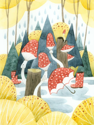 plakat dla dzieci - Las deszczowy